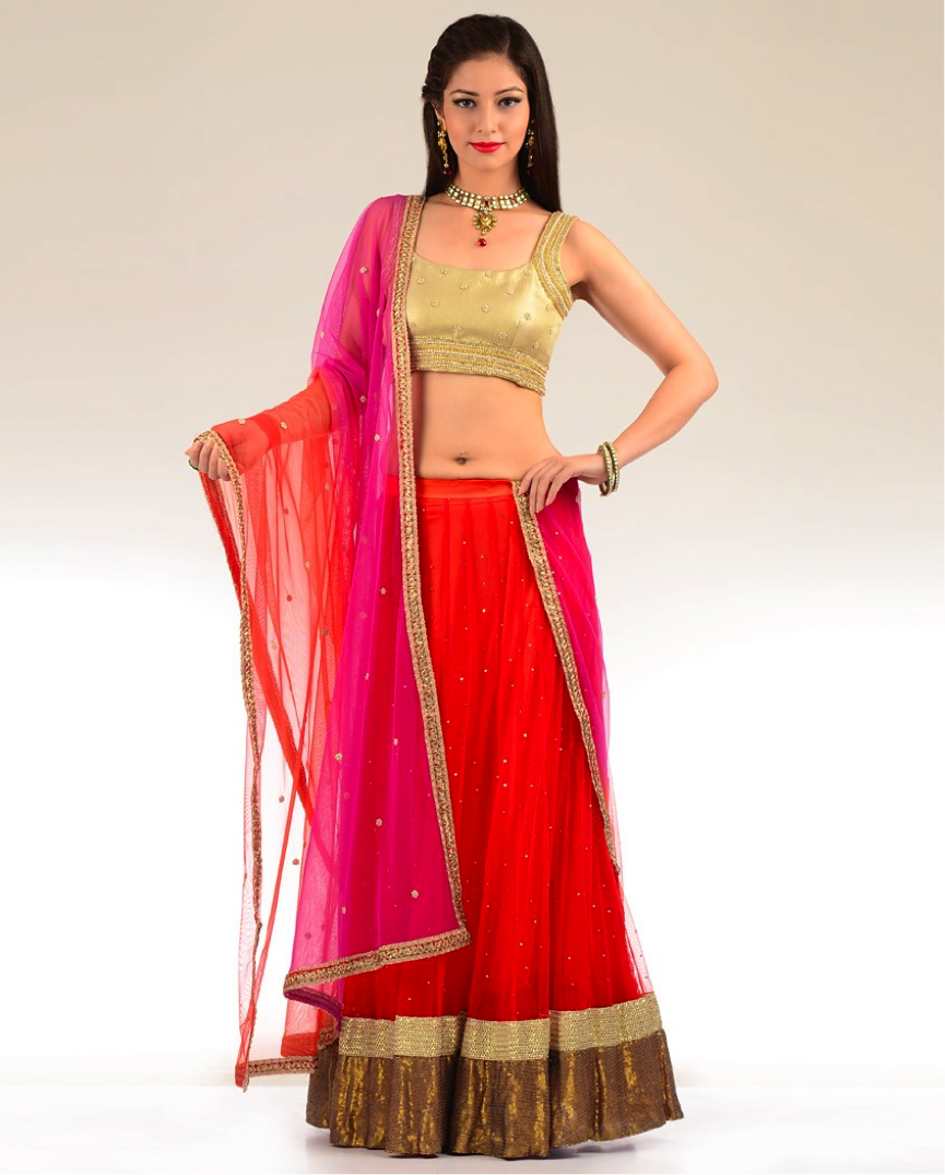 Simple Red Lehenga on Summer Word Search 2
