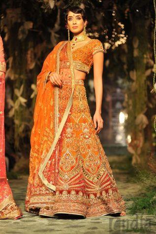 Aamby Valley India Bridal Fashion Week 2012 orange simple lehenga
