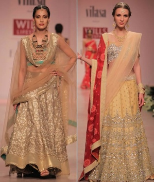 Rocky S Ivory Lemon designer simple lehenga fashion show
