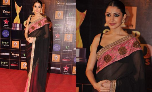 Anushka Sharma Manish Malhotra simple saree