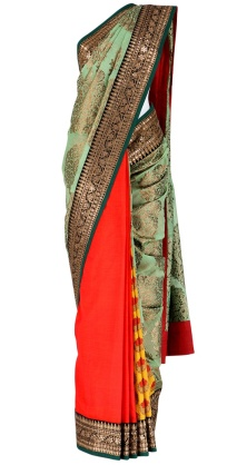 Sabyasachi Sarees red and green