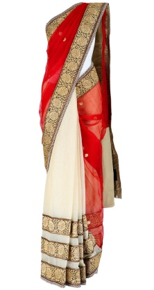 Sabyasachi sarees red and white