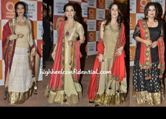 neha-juhi-farah-lfw-swades-vikram-phadnis mother of the bride lehenga