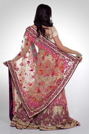 Satya Paul pink purple bridal