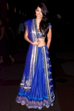 Vogue's best dressed 2012 blue simple lehenga