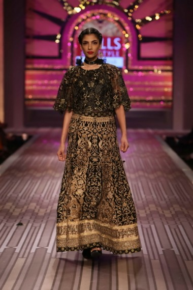 wlifw-2013-ritu-kumar-black gold bridal