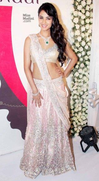 Neeta Lulla Sonal Chauhan 2013 pink lehenga