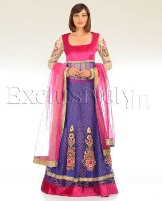 Swati Srivastava Pink purple lehenga