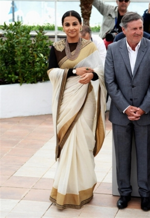 Vidya-Balan-at-Cannes_sabyasachi_saree_sari_white
