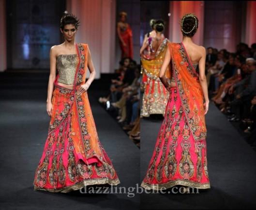 Vikram Phadnis corset bridal lehenga choli