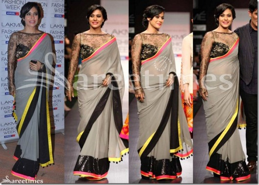 Kajol_Manish_Malhotra_Grey_Saree_Blouse