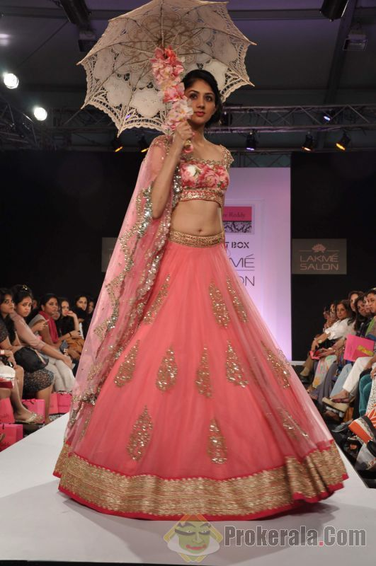 Bridal Outfits by Anushree Reddy Sabyasachi Lakme Fashion Week 2013
