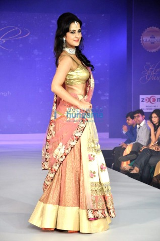 Simple peach lehenga