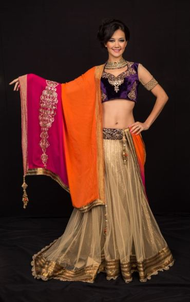 shymal-and-bhumika_pink_gold_simple_lehenga