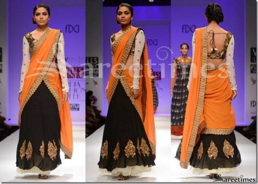 Joy_Mitra_Lehenga_orange_black